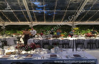 Outdoors Clear Span Transparent Fabric Top Commercial Party Tent with Linings Decoration