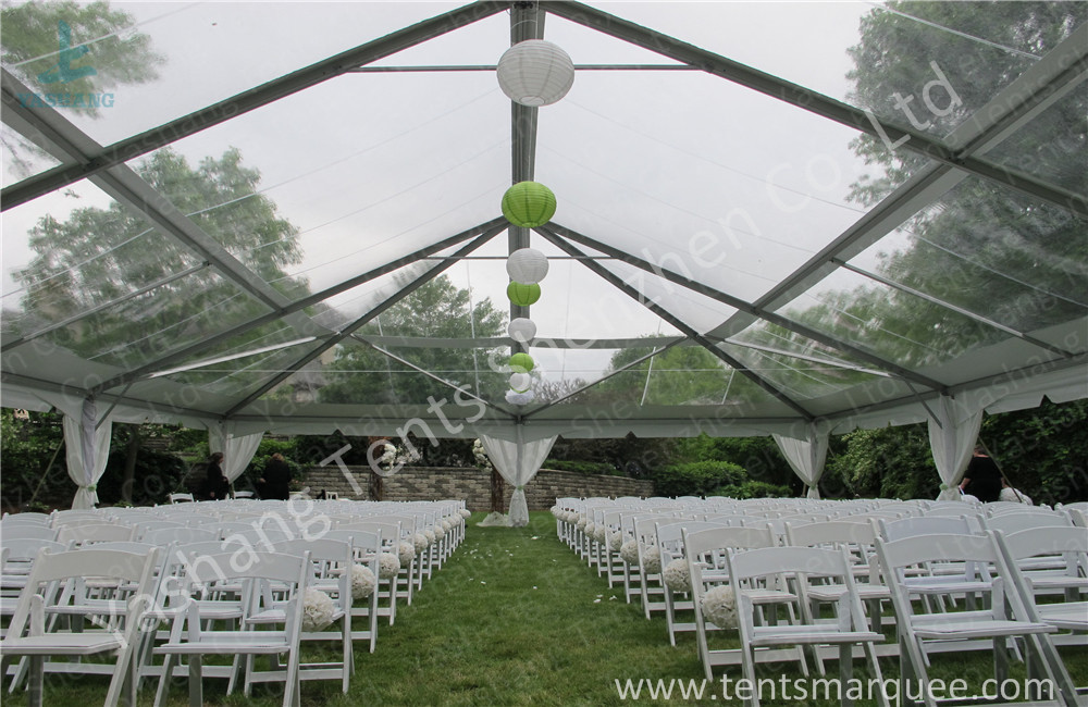 Glassland Romantic Transparent Clear Top Tent Wedding , clear party tent