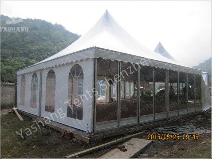 White PVC Textile Roof and Wall Outdoor Event Tent with Skeleton of Aluminum Alloy